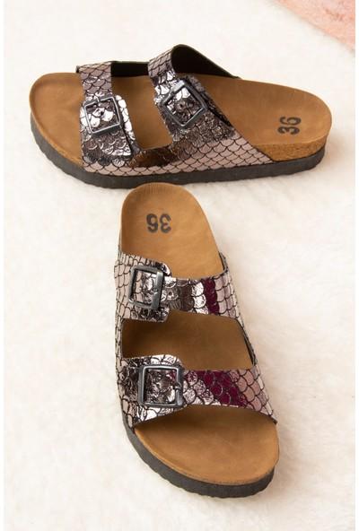 Fox Shoes Platin Kadın Terlik B777775407