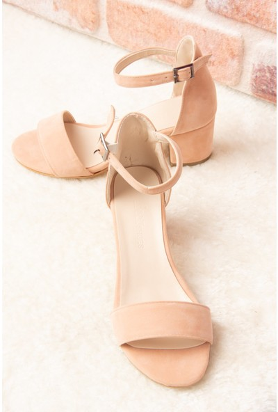 Fox Shoes Pudra Kadın Topuklu Ayakkabı H303300002