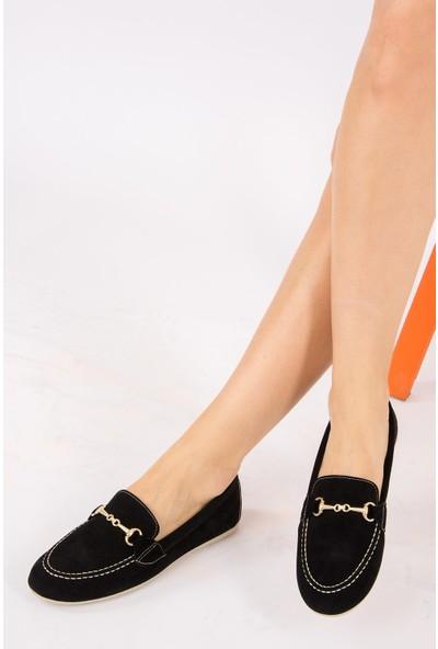 Fox Shoes Siyah Kadın Ayakkabı H476540302