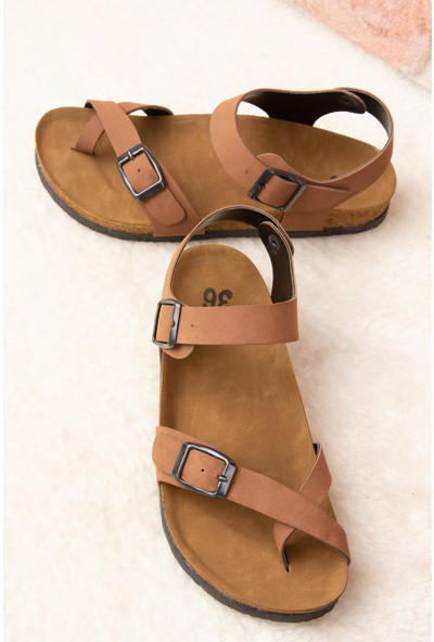 Fox Shoes Taba Kadın Sandalet H777786002
