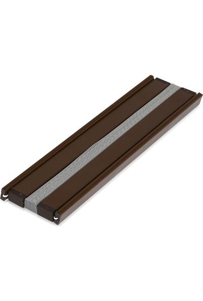 Erikmann Cam Balkon Perdesi Yapıştırmalı Plise Perde 102 gr/m2 Antrasit Profil Antrasit Kumaş 45 x 140 cm