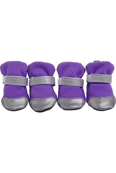 Yukka 4'lü Set Köpek Çorabı Pomeranian ve Diğer Türler İçin Yumuşak Tabanlı Köpek Ayakkabısı Küçük Köpek Çorabı