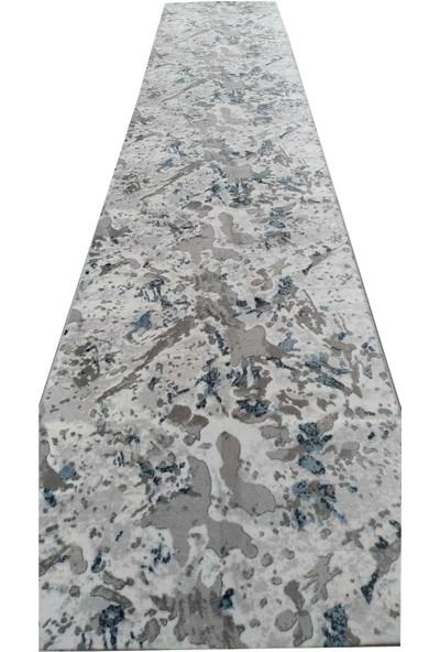 Aksu Halı Palma Mavi Kaymaz Taban Jel Yolluk 200 x 550 cm