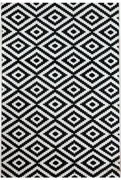 Aksu Halı Piramit Siyah Kaymaz Taban Jel Yolluk 120 x 100 cm