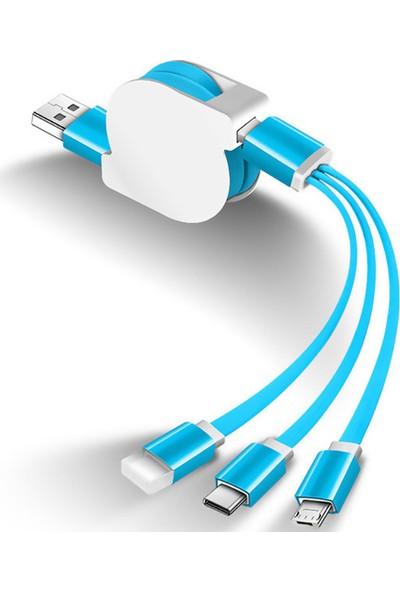 Yukka Hızlı Şarj Kablosu Teleskopik USB Uzatma Kablosu Universal Çoklu Fonksiyon