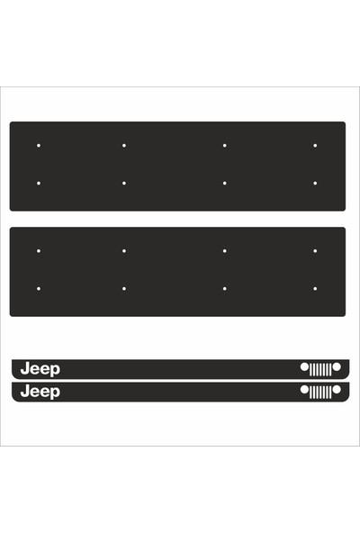 Appcity Jeep Tamboy Pleksi Plakalık (2 Adet)