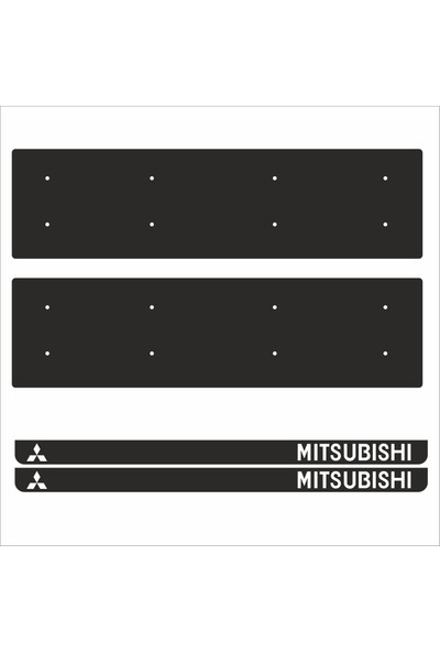 Appcity Mitsubishi Tamboy Pleksi Plakalık (2 Adet)
