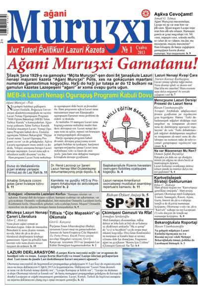 Ağani Muruʒxi Lazca Gazete 1. Sayı