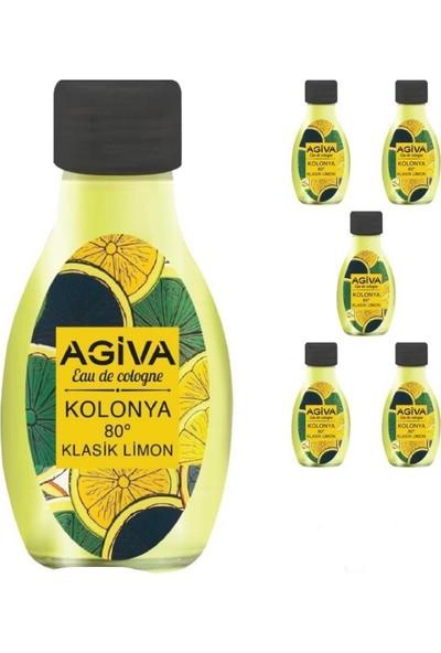 Agiva Klasik Limon Kolonya 120 Ml*5 Adet