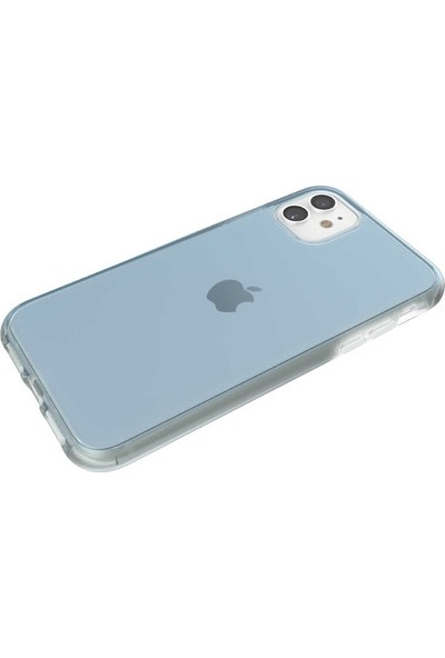 Tbkcase iPhone 11 Kılıf Ice Cube Hibrit Sert Silikon Mavi