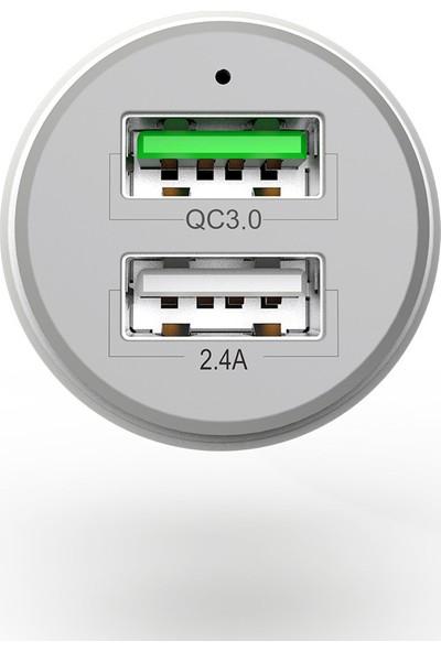 Mcdodo Mdd Çift Araç Şarj Cihazı Puding Serisi Qc3.0 + 2.4A (Yurt Dışından)