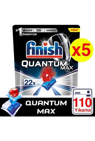 Finish Quantum Max Bulaşık Makinesi Deterjanı 110 Kapsül 22 X 5