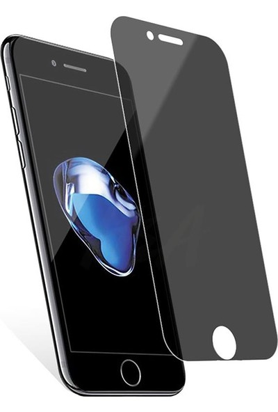 Zümrah Apple iPhone 7 Plus - iPhone 8 Plus Privacy Hayalet Cam Ekran Koruyucu Siyah