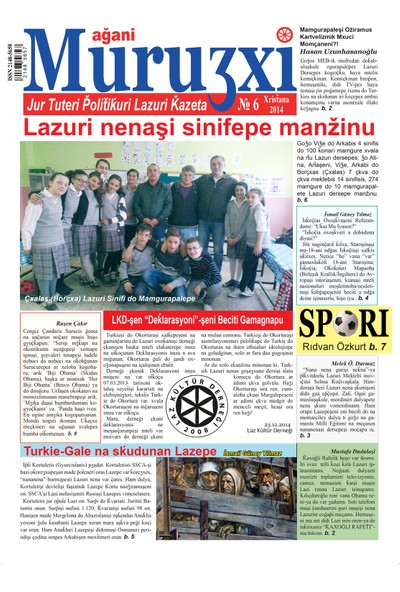 Ağani Muruʒxi Lazca Gazete 6. Sayı