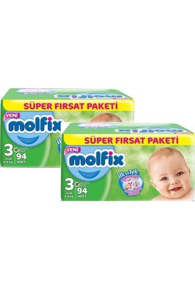 Molfix Süper Fırsat 3 Midi 94'lü x 2 Paket