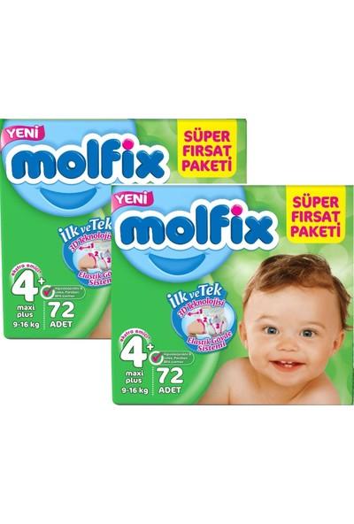 Molfix Süper Fırsat 4+ Maxiplus 72'li x 2 Paket