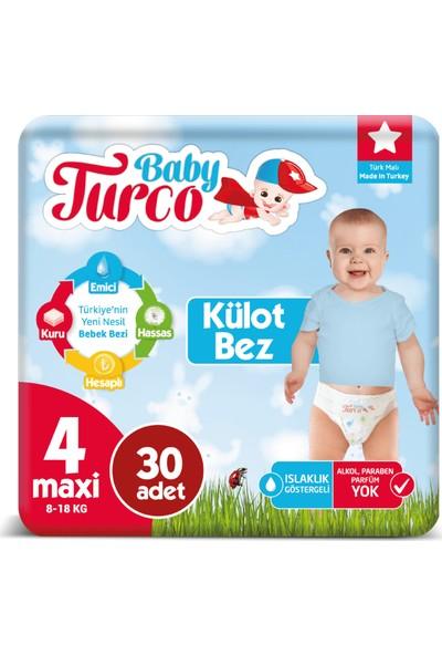 Baby Turco Külot Bez 4 Numara Maxi 30'lu