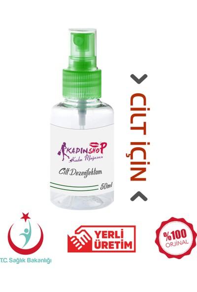 Kadınshop Cilt Dezenfektanı El Yüz Vücut İçin Koruyucu Etkili Steril Dezenfektanı 50 ml