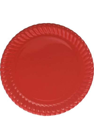 Bkr Karton Tabak Kırmızı 23 cm 32'li