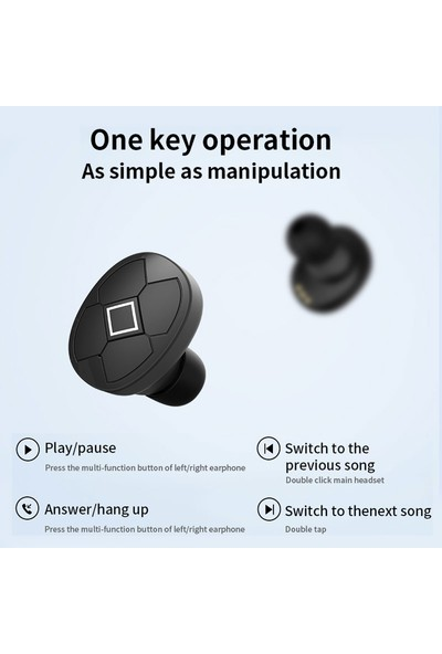 WZ Bluetooth 5.0 Kablosuz Kulaklık HiFi V5 TWS Kulaklık