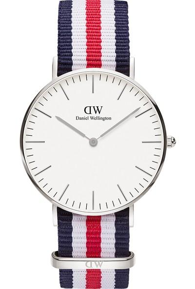Daniel Wellington Classic 36 Canterbury S White Unisex Kol Saati DW00600051