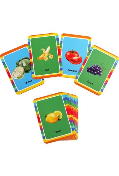 Kanz Eğitici Kartlar, Meyve ve Sebzeleri Tanıyalım