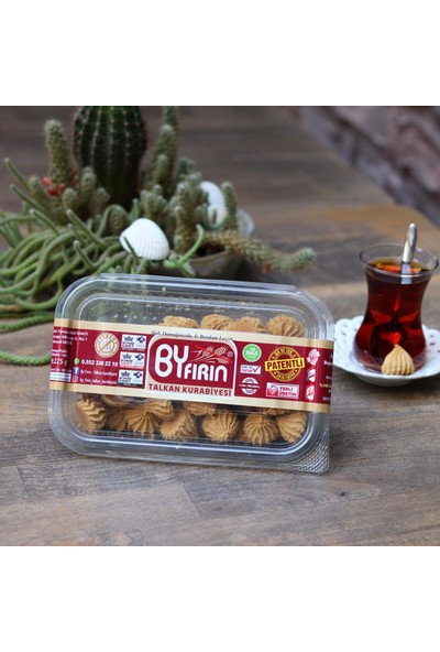 By Fırın Talkan Glutensiz Leblebi Tozu Kurabiyesi 200 gr x 2 paket