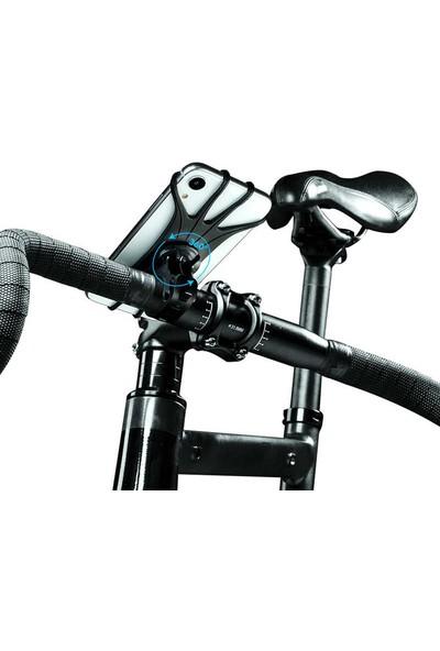Roar Flexi-Grip 360 Dönebilen Silikon Bisiklet Telefon Tutucu
