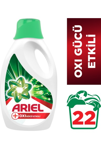 Ariel Oxi Sıvı Çamaşır Deterjanı 22 Yıkama