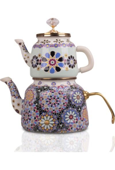 Dufy Etnik Vintage Desenli Çaydanlık