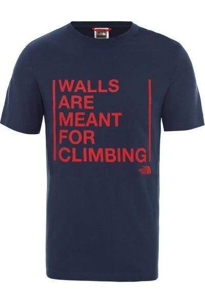 The North Face Walls Are For Climbing Erkek T-Shirt Mavi