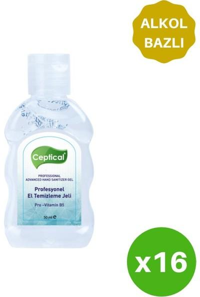 Ceptical Alkol Bazlı Anti-Bakteriyel Jel - 16 Adet 50 ml