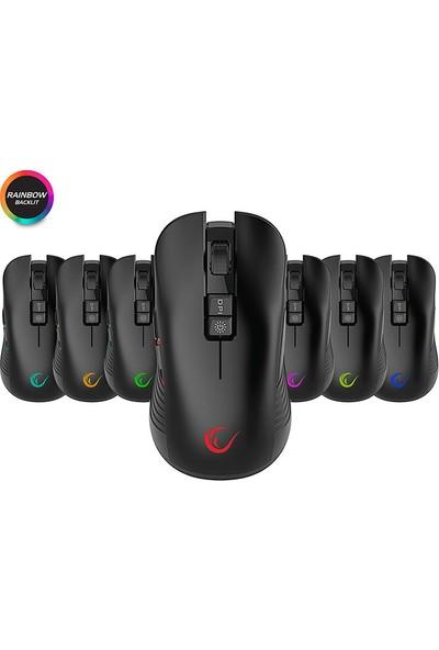 Rampage SMX-R20 Specter Kablosuz Siyah Gökkuşağı Ledli Şarjlı Oyuncu Mouse