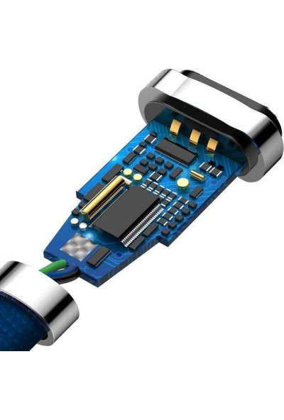 Baseus Zinc Fabric Cloth Weaving Serisi Lightning Kablosu 2A 1 m Mavi