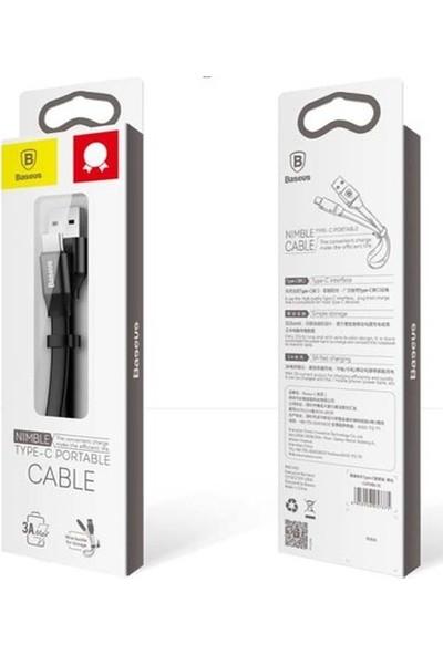 Baseus Nimble Portable Type - C Kablo 1.2 Metre Siyah Catmbj A01