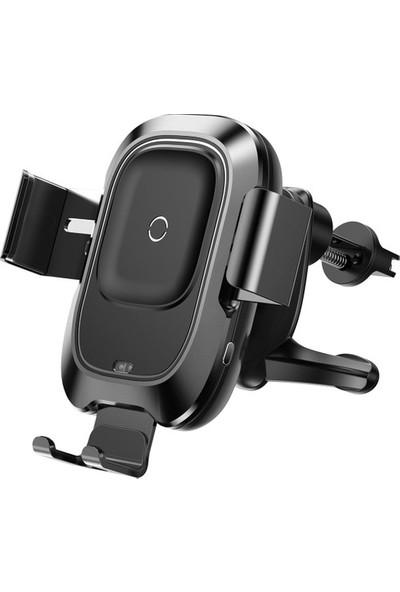 Baseus Qi Kablosuz Şarj Destekli Araç İçi Telefon Tutucu Siyah WXZN-01