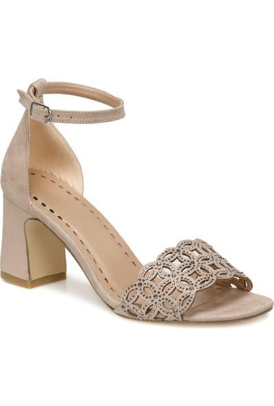 Butigo Sharon Bej Kadın Topuklu Ayakkabı