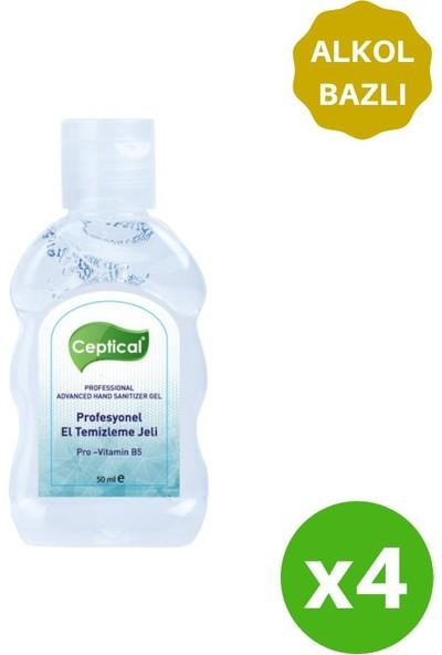 Ceptical Alkol Bazlı Anti-Bakteriyel Jel - 4 Adet 50 ml