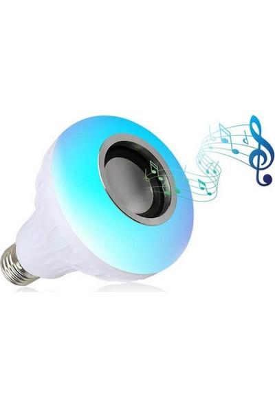 Sky Go Bluetooth Hoparlörlü Akıllı LED Ampül Disco Lamba Renkli