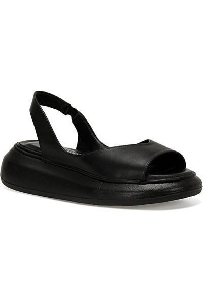 Nine West Hal Siyah Kadın Kalın Tabanlı Sandalet