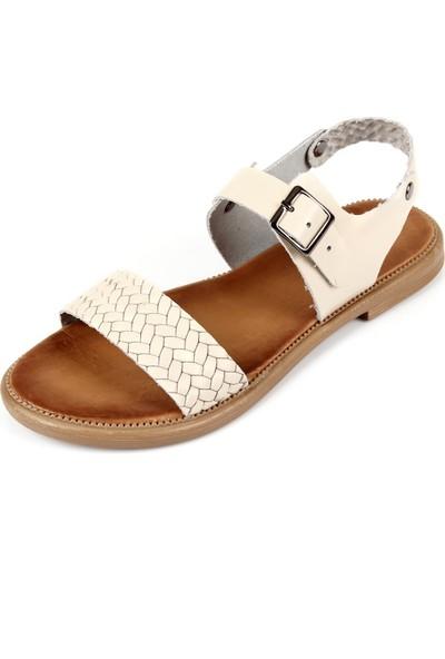 Gön Deri Kadın Sandalet 35029