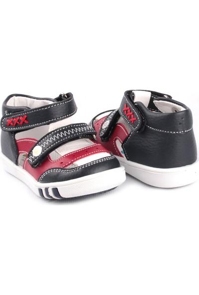 Şirin Bebe İlkadım Erkek Çocuk Ayakkabı Lacivert Kırmızı Beyaz