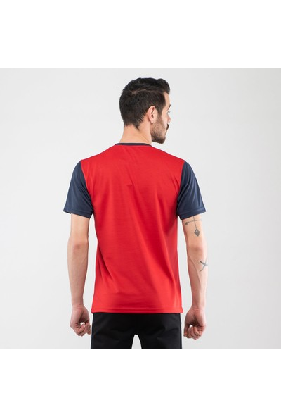 Slazenger Tarot Erkek T-Shirt Kırmızı Lacivert
