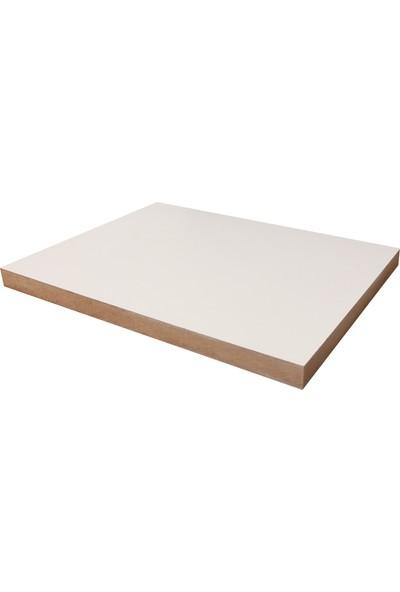 iAhşap Duralit MDF Laminat Kaplı Tabaka Beyaz 10 x 10 cm x 3 mm