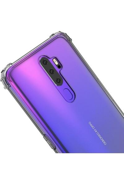 Teleplus Oppo A5 2020 Kılıf Darbe Korumalı Silikon - Şeffaf