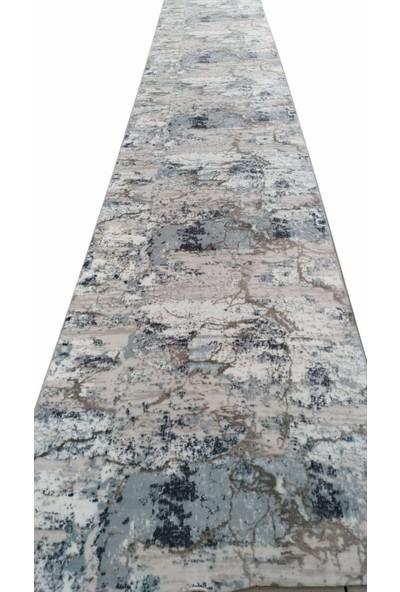 Aksu Halı Etna Mavi Kaymaz Taban Jel Halı 150 x 140