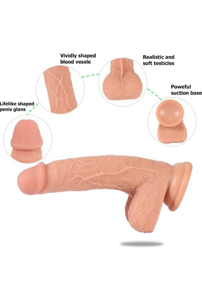 Xise Yumuşak Ten Dokuda 19 cm Kemerli Strap On Penis + Jel