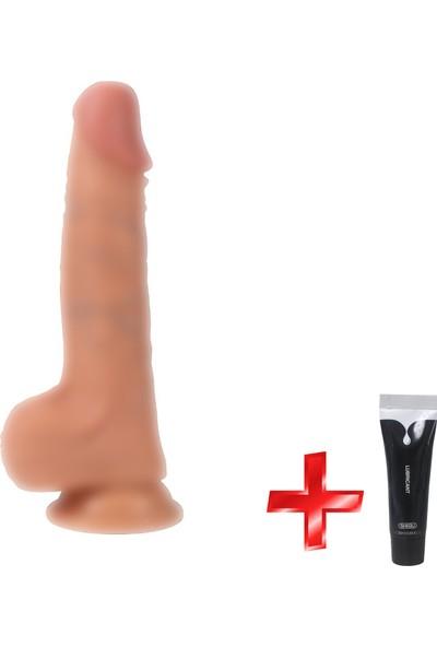 Xise Gerçekci Yumuşak Et Dokuda Özel Malzemeden 20 cm Realistik Penis + Jel