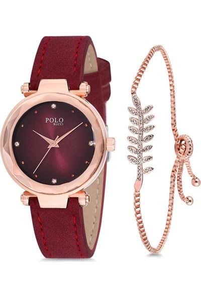 Polo Rucci PL-1189B1 Kadın Kol Saati Seti