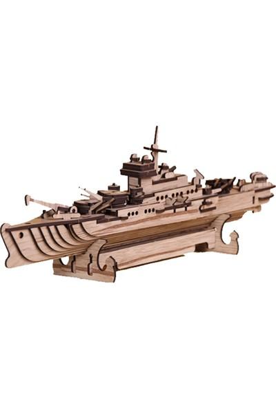 Pershang Ahşap Savaş Gemisi 3 Boyutlu Yapboz